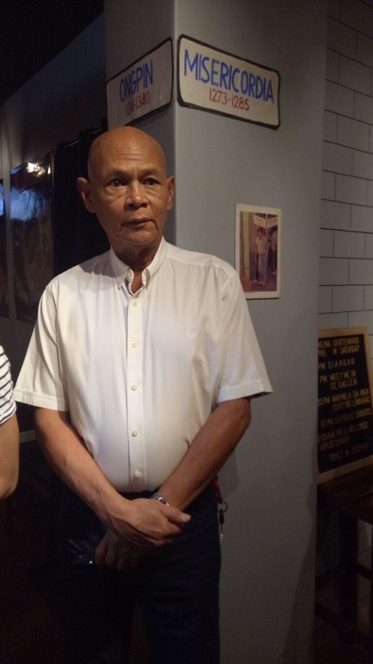 "Actor Bembol Rocco for the ""Maynila sa mga Kuko ng Liwanag"" post-screening forum. (May 6, '18)"
