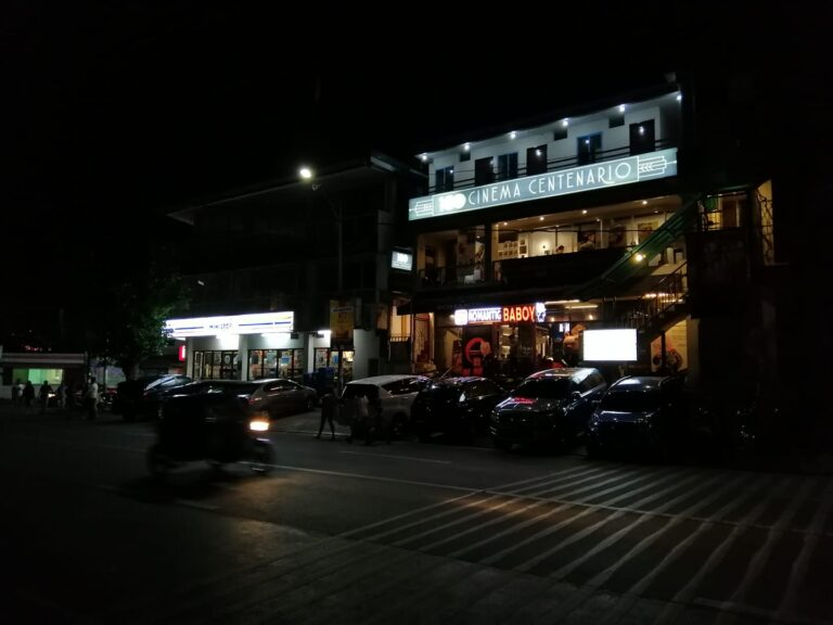 Cinema Centenario at night. Maginhawa, Quezon City.