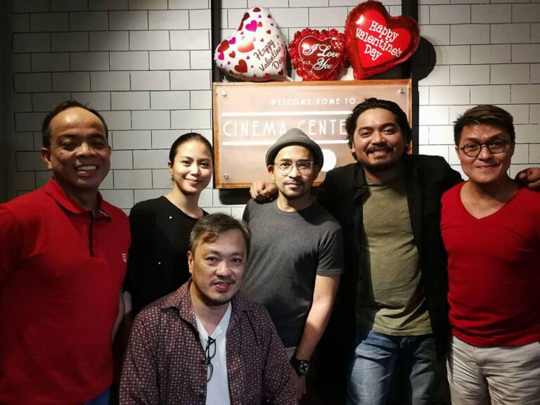 """Changing Partners"" cast and crew. (L-R) Ronald Arguelles, Lilit Reyes, Anna Luna, Jojit Lorenzo, Dan Villegas, and Vince De Jesus. (Feb. 16, '18)"