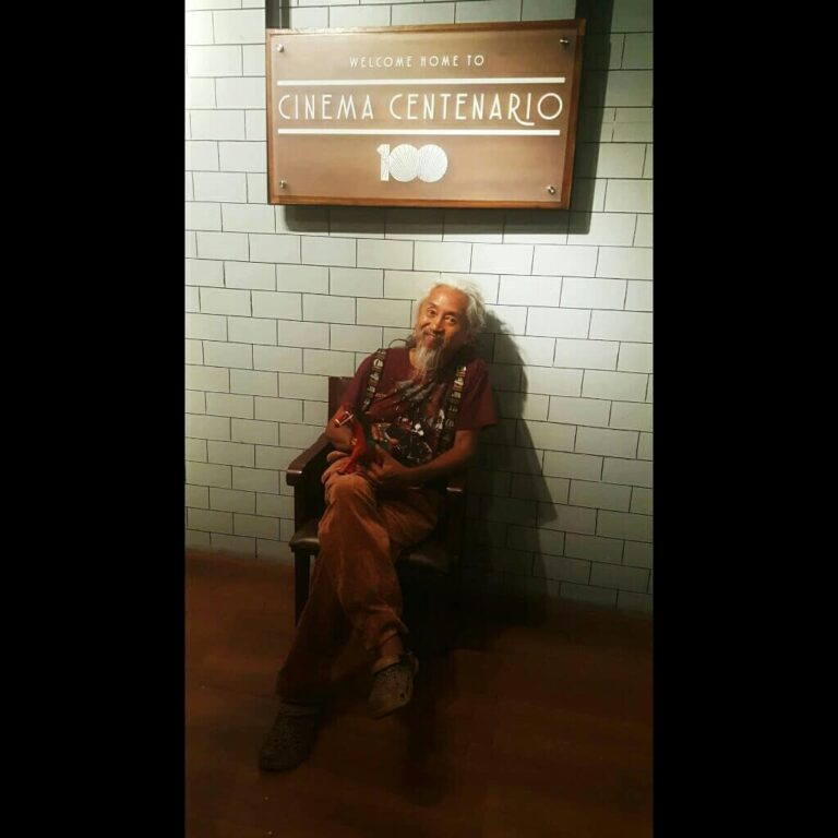 "Kidlat Tahimik after watching ""Ulan"" directed by Eirene Villamor.  (Apr. 26, '19)"