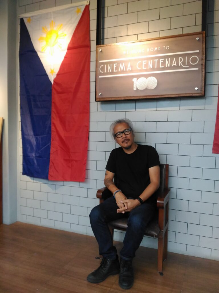 "Director Lav Diaz after the post-screening forum on his film, ""Ang Panahon ng Halimaw."" (Jun. 12, '19)"
