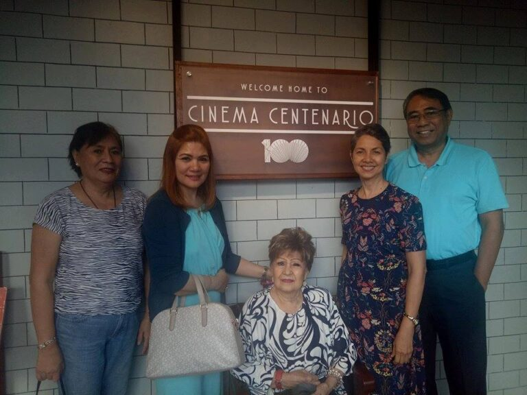 "Vic Silayan family. Children of Vic Silayan with their family visits our home, Cinema Centenario to watch their father's film ""Karnal""- digitally restored and remastered version. (Jan. 10, '18)"